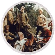 World War I: French Troops Round Beach Towel