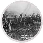 World War I: German Pows Round Beach Towel