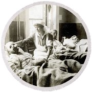 World War I: Nurse Round Beach Towel