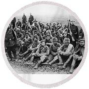 World War I: Prisoners Round Beach Towel