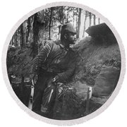 World War I: Soldier Round Beach Towel