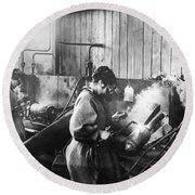 World War I: Women Workers Round Beach Towel