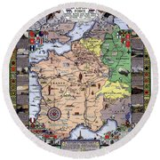 World War One Historian's Panel Round Beach Towel