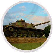 World War Two Tank Round Beach Towel