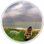 Worlds Apart Round Beach Towel
