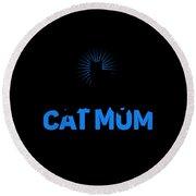 Worlds Best Cat Mom Round Beach Towel
