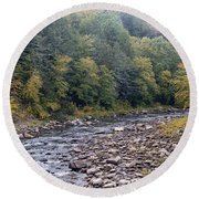 Worlds End State Park Loyalsock Creek Round Beach Towel