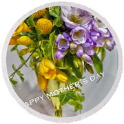 World's Greatest Mom Mother's Day Card Round Beach Towel