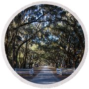 Wormsloe Avenue #2 Round Beach Towel