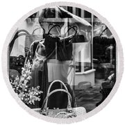 Worth Ave Reflections 0503 Round Beach Towel