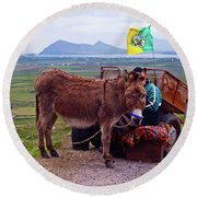 Would You Like A Ride In Ireland Round Beach Towel