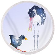 Would You Marry Me Round Beach Towel