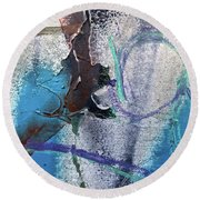 Wounded Concrete Round Beach Towel