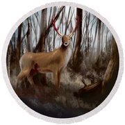Wounded Wanderer Round Beach Towel