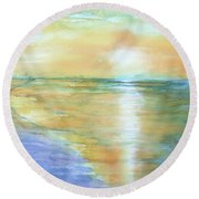 Wow Sunset Round Beach Towel