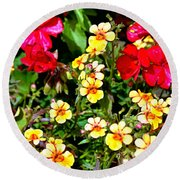 Wp Floral Study 1 2014 Round Beach Towel