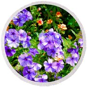 Wp Floral Study 2 2014 Round Beach Towel