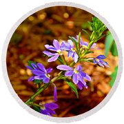 Wp Floral Study 4 2014 Round Beach Towel