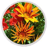 Wp Floral Study 5 2014 Round Beach Towel