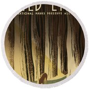 Wpa Wildlife 2 Round Beach Towel