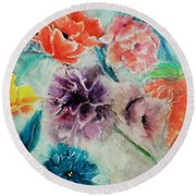 Wrap It Up In Spring By Lisa Kaiser Round Beach Towel