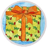 Wrapped Gift Round Beach Towel
