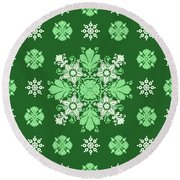 Wrapping Wallpaper Floral Seamless Tile For Website Vector, Repeating Foliage Outline Floral Western Round Beach Towel