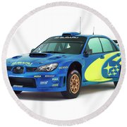 Wrc Racing Round Beach Towel