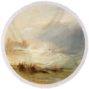 Wreckers - Coast Of Northumberland Round Beach Towel