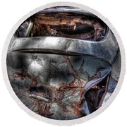 Wrecking Yard Study 2 Round Beach Towel