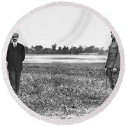 Wright Brothers, 1909 Round Beach Towel