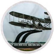 Wright Flyer Memorial Round Beach Towel