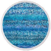 Writ On Water Iv Round Beach Towel