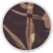 Writers Guild Abstract Round Beach Towel