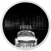 Wurlitzer Organ In The Lincoln Theatre Round Beach Towel