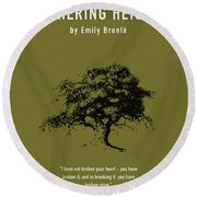 Wuthering Heights Greatest Books Ever Series 017 Round Beach Towel