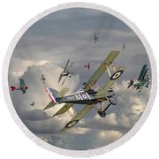 Ww1 - 'wings' Round Beach Towel