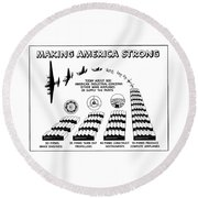 Ww2 Airplane Supply Cartoon  Round Beach Towel