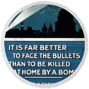 Wwi: Poster, 1915 Round Beach Towel