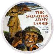 Wwi Poster Round Beach Towel