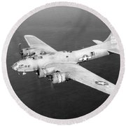 Wwii, Boeing B-17 Flying Fortress, 1940s Round Beach Towel
