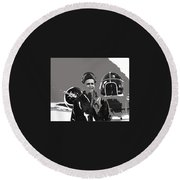 Wwii Bombadier Jack H. Gowan Unknown Location  1942 Color Added 2016 Round Beach Towel