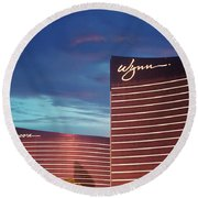 Wynn And Encore In Las Vegas Round Beach Towel