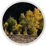 Wyoming Autumn Color One Round Beach Towel