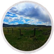 Wyoming Glen  Round Beach Towel