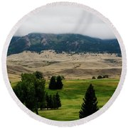 Wyoming Landscape 51a Round Beach Towel