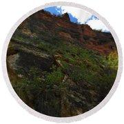 Wyoming Red Rocks Round Beach Towel