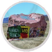 Wyoming Tech Round Beach Towel
