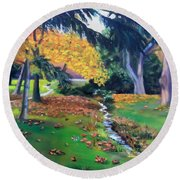 Wyomissing Creek Round Beach Towel