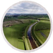 Wyre From The Air Round Beach Towel